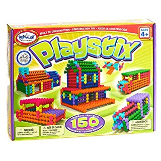 Playstix Construction Toy Building Blocks Set 150 Piece Kit