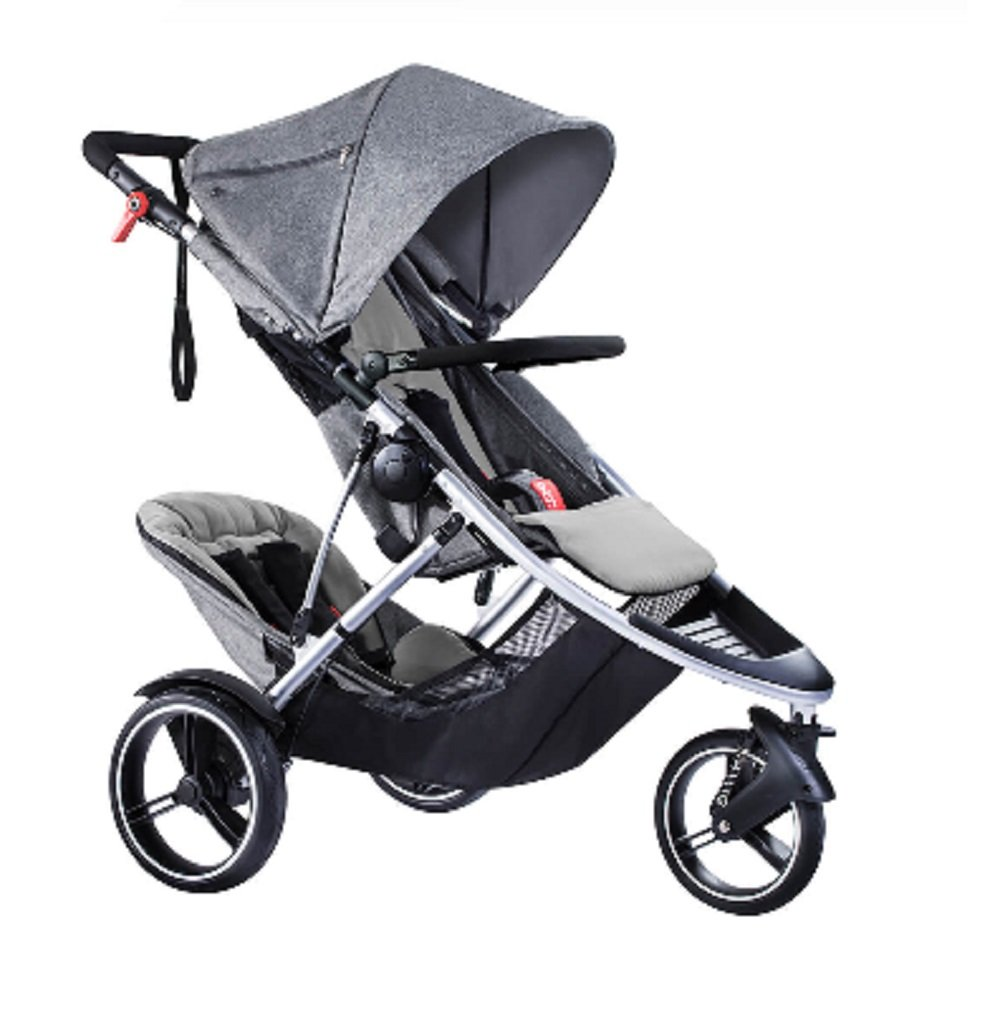 Phil and Teds Dash Buggy With Doubles Kit (Grey Marl) by phil&teds