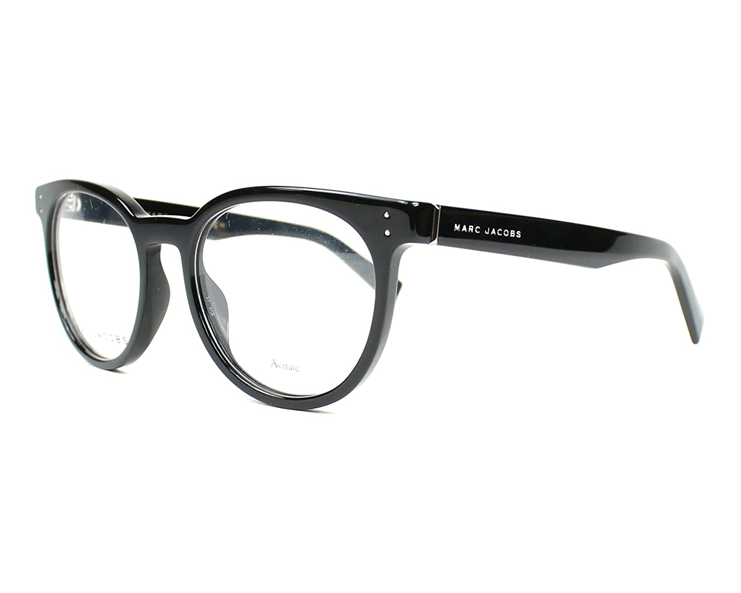 3171bcb53d8 Amazon.com  Marc Jacobs Marc 126 0807 Black Eyeglasses  Clothing