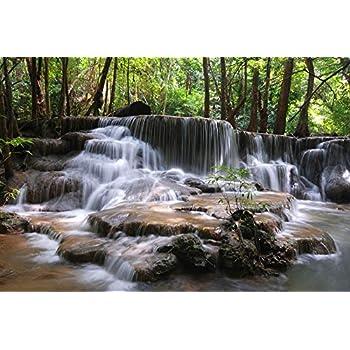 Amazon com: Wallmonkeys WM344992 Erawan Waterfall
