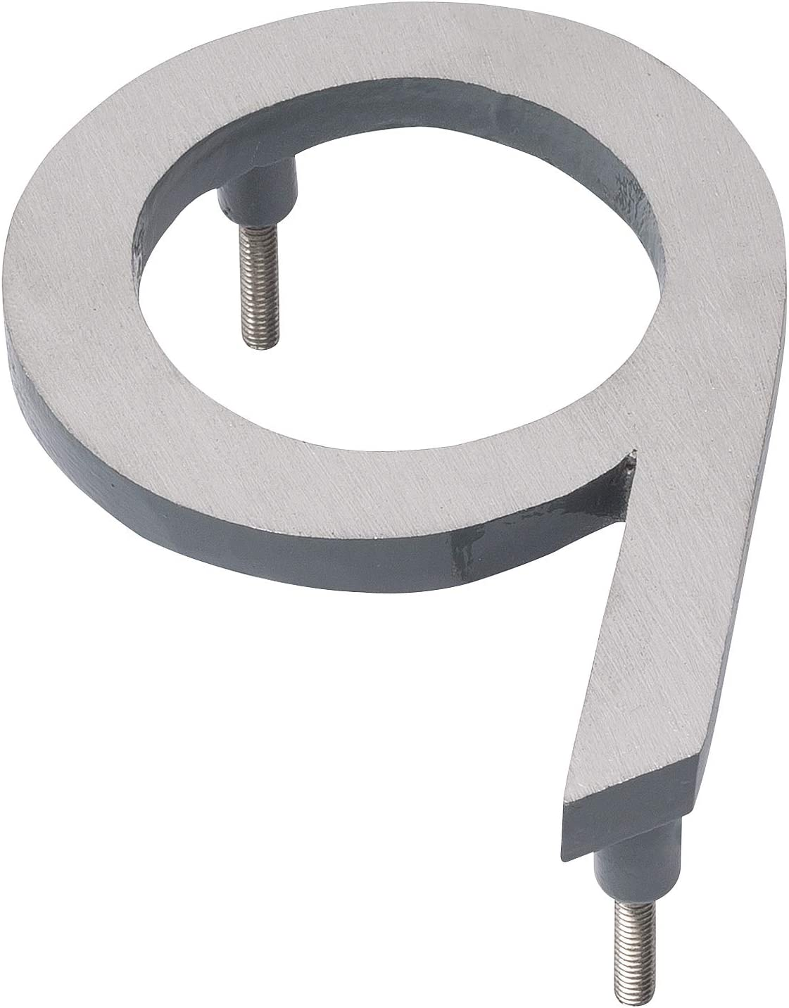 Montague Metal Products MHN-6-F-GY2-0 Solid Brushed Aluminum Modern Floating Address House Numbers Satin Nickel Powder Coated Gray Two-Tone 6