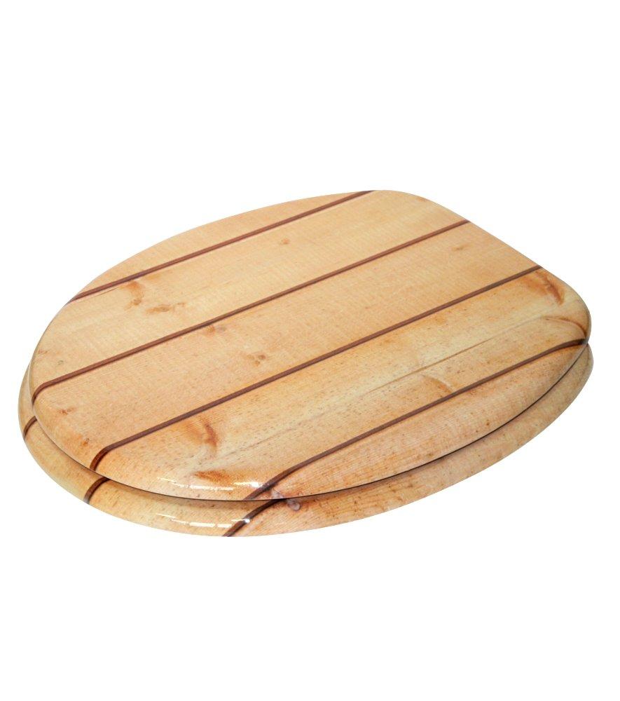 hochwertige und stabile Qualit/ät aus Holz gro/ße Auswahl Deep Sea sch/öne Motive WC Sitz mit Absenkautomatik