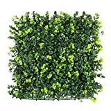 ULAND Artificial Hedges for Outdoors Boxwood, Ivy Plant Greenery Wall, Garden Fence Privacy Hedges Screening Fence, 6pcs 20″x20″