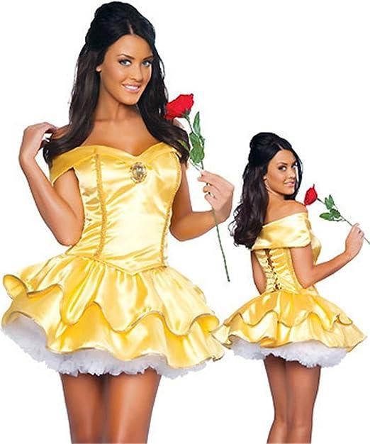 Belle Wig Adult Princess Costume Halloween Fancy Dress