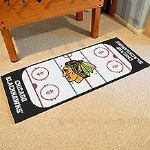 Fanmats Home Indoor Outdoor Sports Team Logo Chicago Blackhawks Rink Runner Nylon Carpet Mat