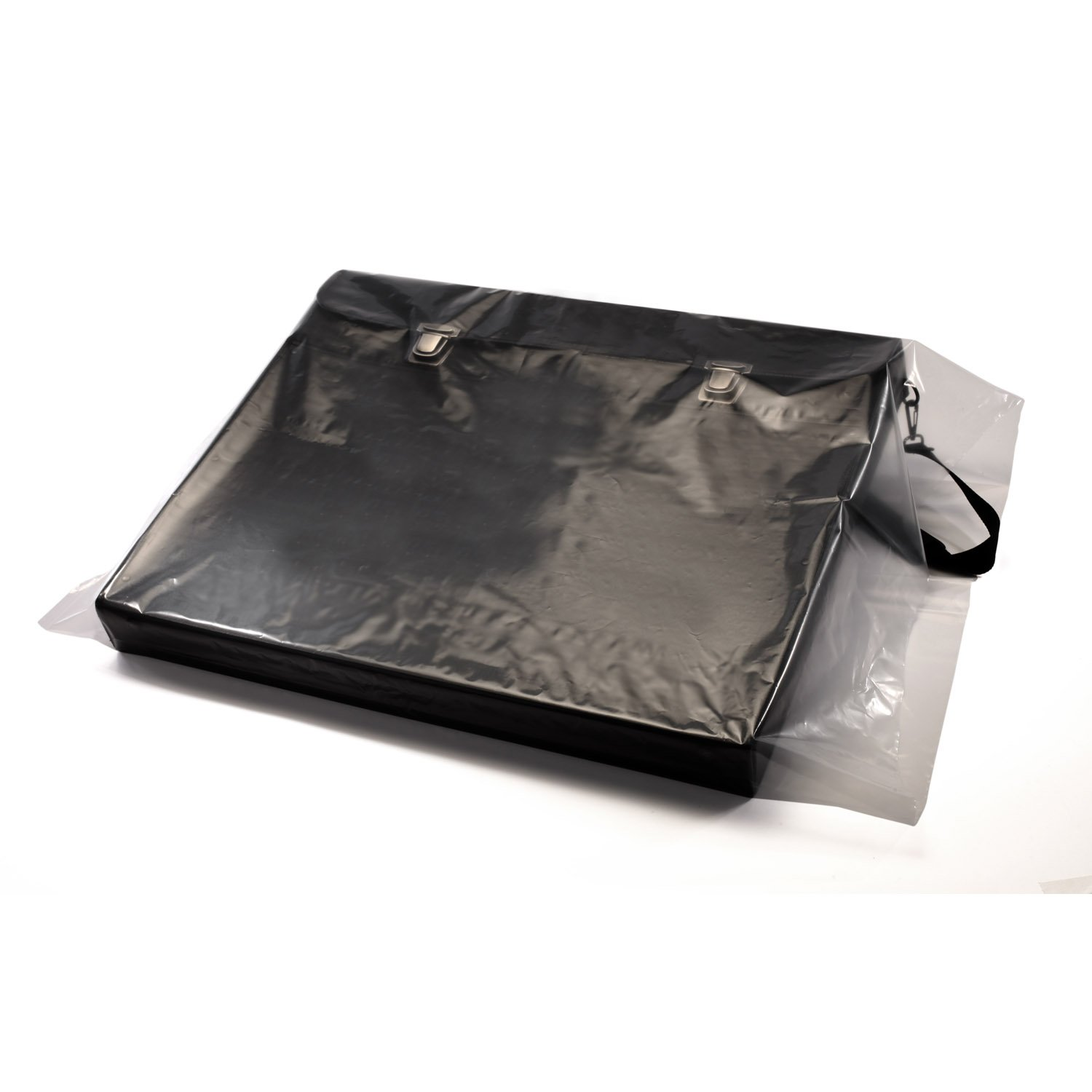 32'' x 44'' x 4 mil Clear Eco-Manufactured Plastic Layflat Bags (Case of 100)
