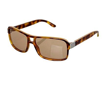 fba5f120963 Amazon.com  Gucci Women s Metal Logo Havana Sunglasses GG 1609 S ...