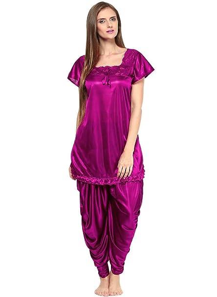 57d56a8747 RICH GIRL Women s Satin Patiala Top and Pyjama (RICHGIRL-0546