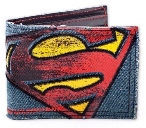 Superman - Vintage Logo Canvas / Jeans Wallet - Superman Wallet For Men