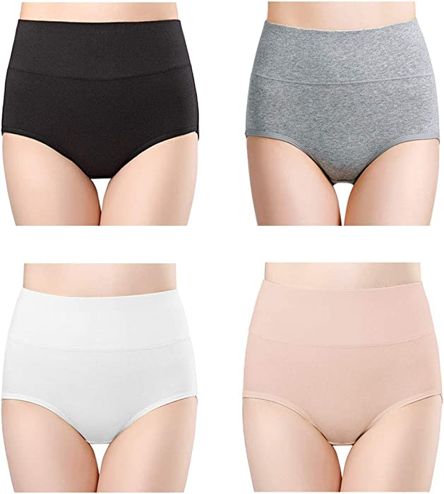 564bb43f455 wirarpa Women s Ultra Soft High Waist Bamboo Modal Underwear Panties 4 Pack  Size 4
