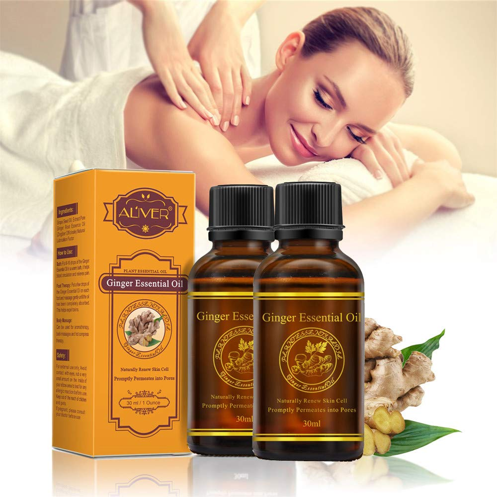 Amazon.com : Clearance Sale! Lymphatic Drainage Natural Ginger Oil for Girls, Iuhan Womens Natural Pure Essential Oils Plant Therapy Lymphatic Beauty ...