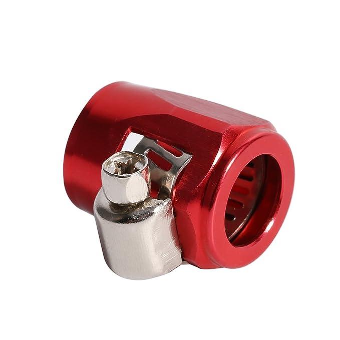 10 BILLET OIL//FUEL//WATER HOSE TUBE SEPARATOR DIVIDER CLAMP 1 RED UNIVERSAL
