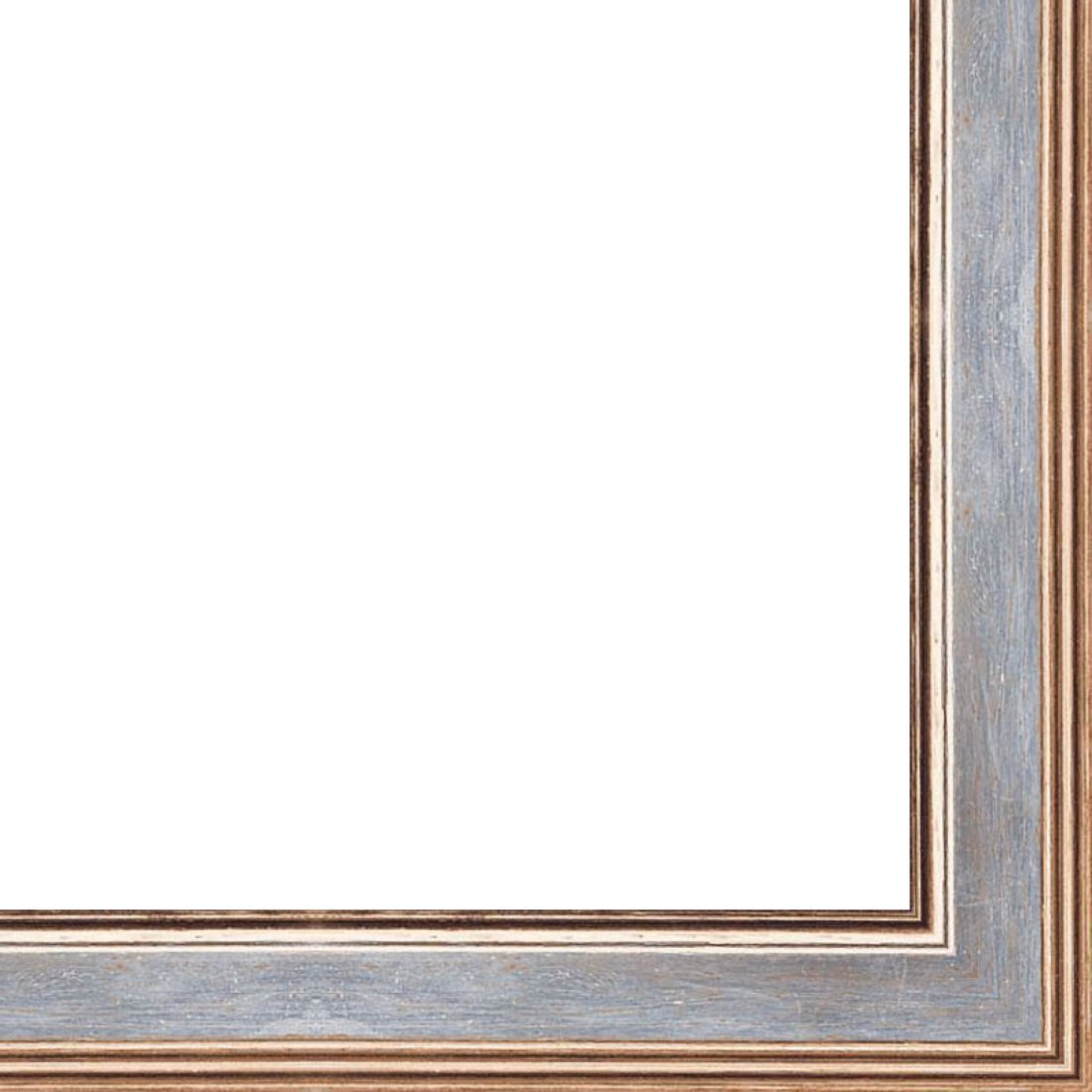 Picture Frame Moulding (Wood) 18ft bundle - Contemporary Antique Silver Finish - 0.75'' width - 3/8'' rabbet depth