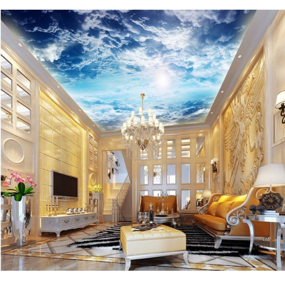 Amazon Com Pbldb 3d Photo Wallpaper 3d Stereo Large Ceiling Wall