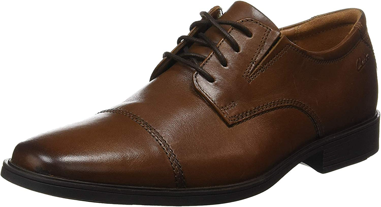TALLA 42 EU. Clarks Tilden Cap, Zapatos de Cordones Derby para Hombre