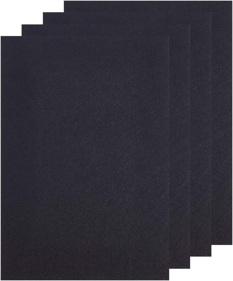 BENECREAT 4 Sheets 11.5x8x1/5 Inches Self-Adhesive Felt Furniture Pads Cuttable Anti-Scratch Durniture Pads for Floor Table Chair Desks, Black