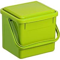 Rotho Bio kompostownik do kuchni, tworzywo sztuczne (PP), zielony Pojedynczy klein (5 Liter) jasnozielony
