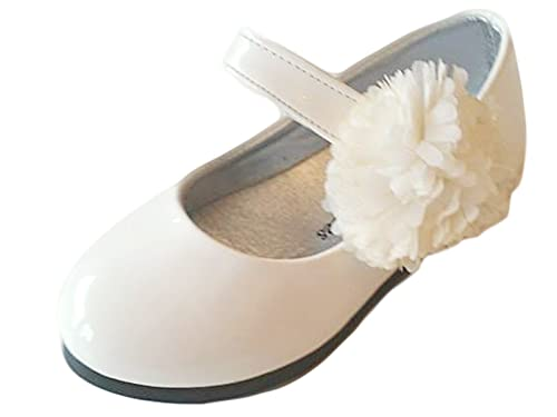 online retailer f4577 47fb8 Ballerina festliche Kinderschuhe Mädchen Halbschuhe Lackschuhe Gr.21-25  rosa und weiss 202
