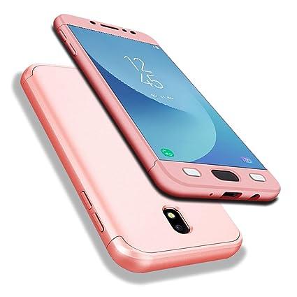 c551d60ad89 Galaxy J7 (2017) Funda, WindCase 360 Grados Cuerpo Completo Protección 3 en  1 Duro PC Funda Anti-rasguños Carcasa para Samsung ...