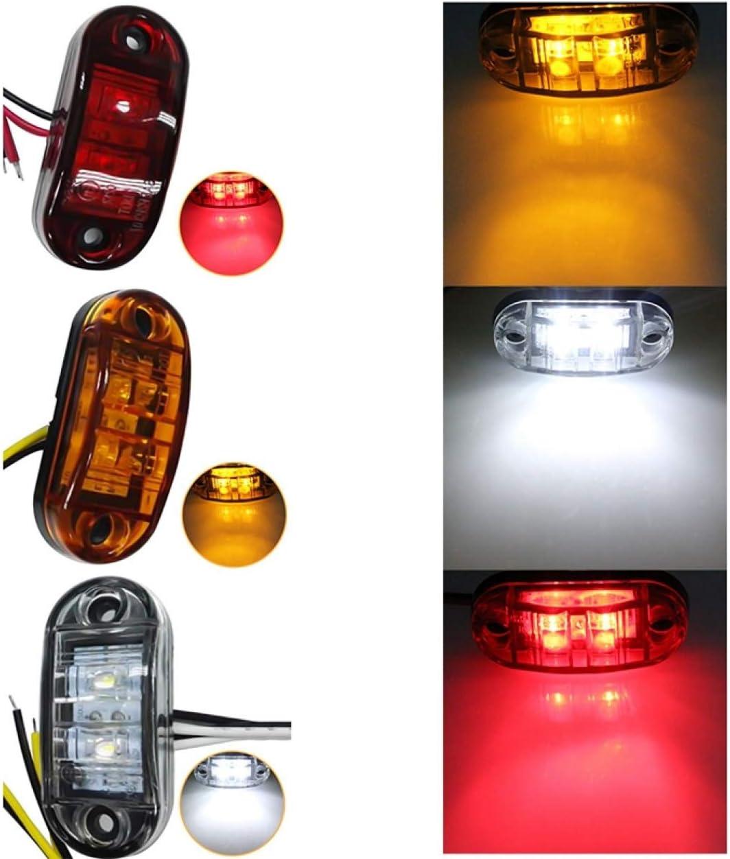 Heraglan Spezielle Hot 1Pc 24V 12V Amber Led Side Marker Lights for Trucks Side Clearance Marker Light Clearance Lamp 12V Red White for Trailer None YW
