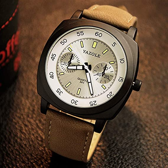 HWCOO Hermoso Relojes de Pulsera 341 YAZOLE Reloj Reloj Luminoso Reloj para Caballero (Color :