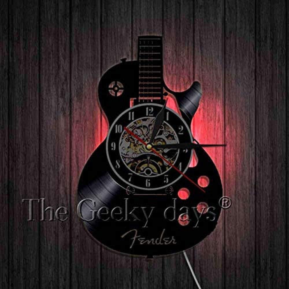 thetobea Reloj de Arte de Pared de Guitarra acústica Instrumento ...