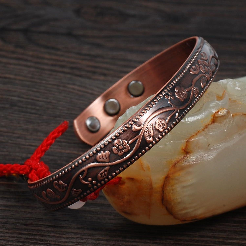 Sufferers wear copper jewelry in the hopes of easing symptoms - Amazon Com Wollet Jewelry Anti Arthritis Rheumatism Flower Cuff Bangle Women Men Health Copper Bracelet Magnetic Bracelet For Blood Pressure Jewelry