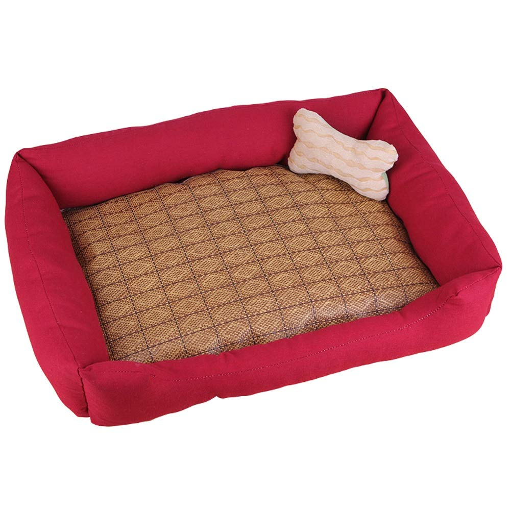 D LPet house Kennel Kennel Cat Litter Cushion Suitable For Small Dogs Large Dog Pets Washable (color   F, Size   L)