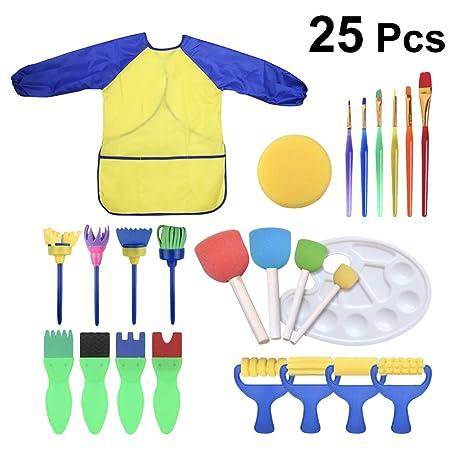 Supvox 25pcs Set Di Pennelli Per Bambini Pennelli Per Dipingere In