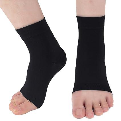 Ailaka Chaussettes de compression pour pied cheville Dispositif médical  contre la fasciite plantaire 20– a76086ec630