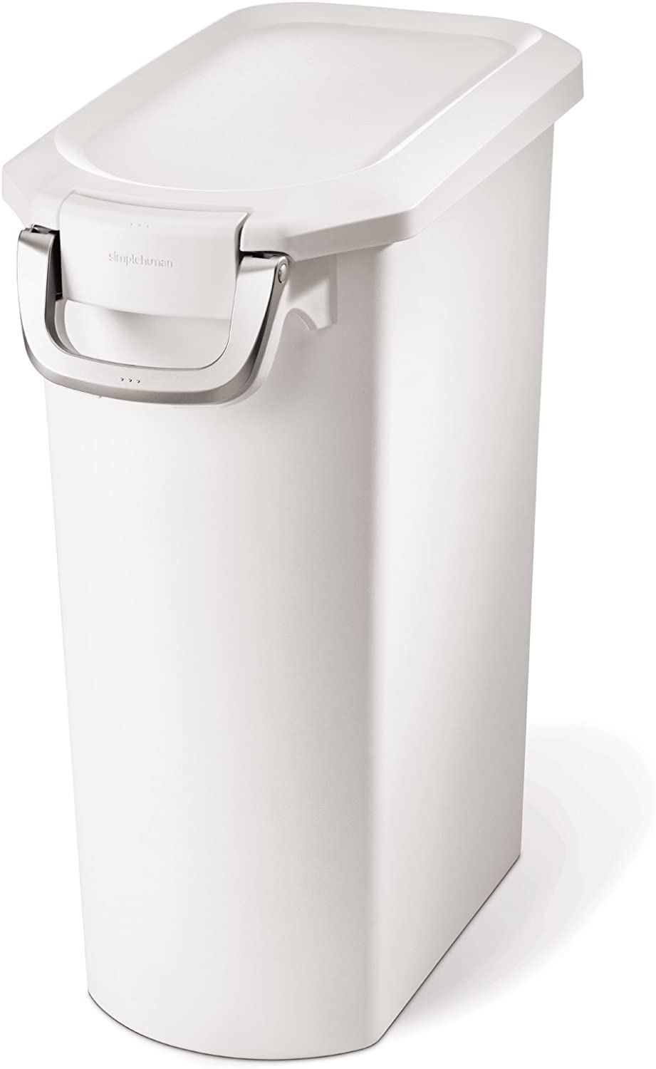 Simplehuman Pet Food Storage Can, White Plastic, 35 Liters/ 9 Gallons