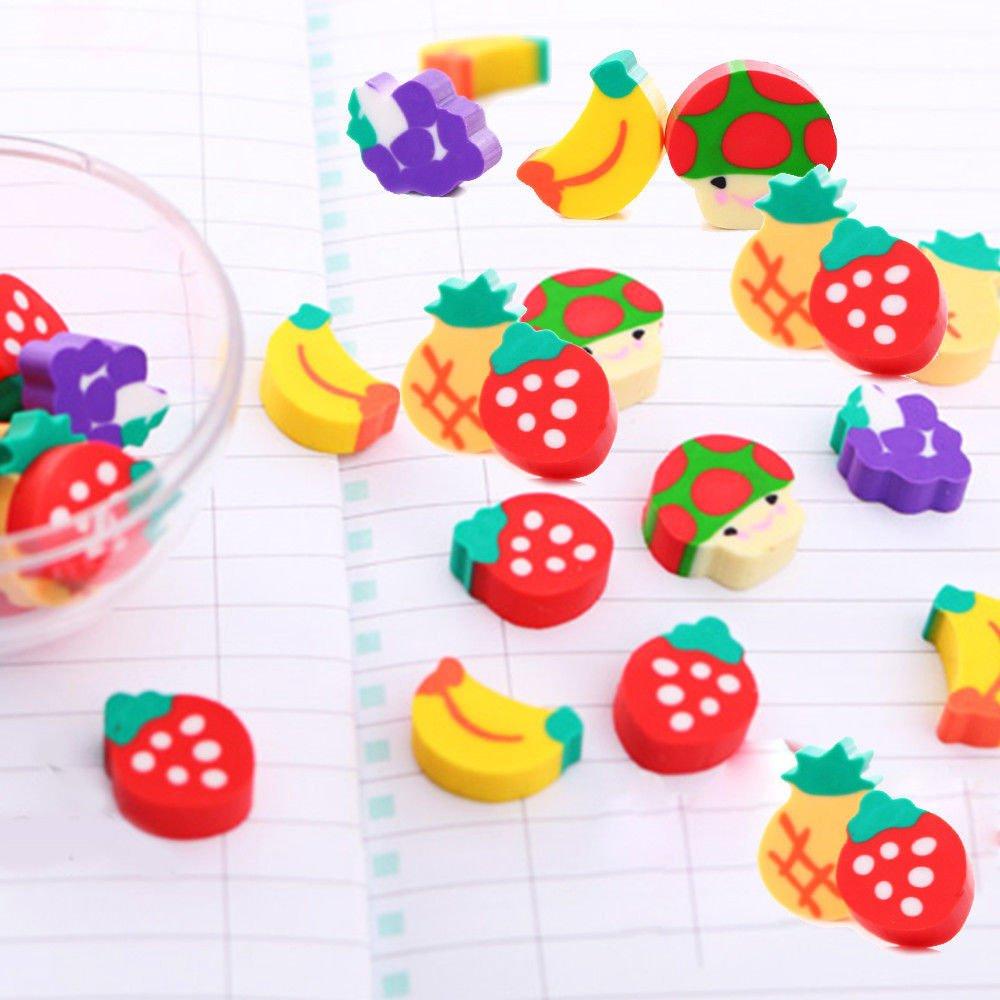 50Pcs Pencils Eraser Stationery Novelty Children Party Gift Rubber Eraser UK !