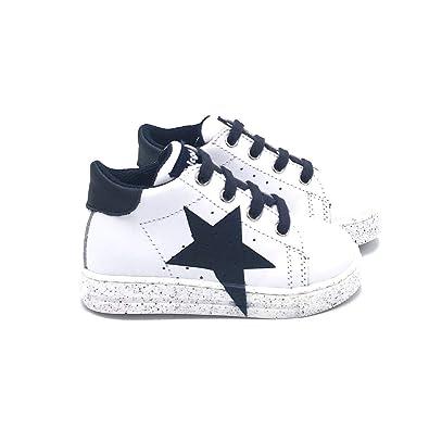 more photos 6d834 44b99 Falcotto Scarpe Bianche Stella Blu: Amazon.co.uk: Shoes & Bags