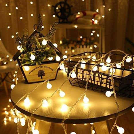 Tomshine 32.8ft 80 LED Battery Operated Globe String Lights Outdoor Decor for