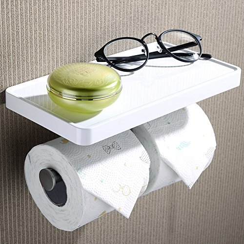 30%OFF SR SUN RISE Double Roll Holder with Shelf, SS304+ABS