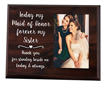 Amazoncom Elegant Signs Maid Of Honor Gift 4x6 Thank You