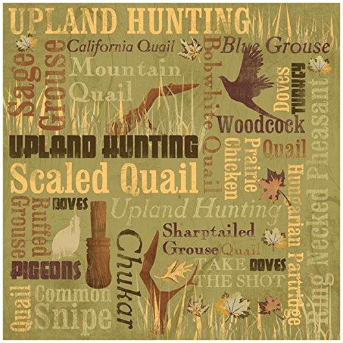 KAREN FOSTER Design Scrapbooking Paper, 25 Sheets, Upland Hunting Collage, 12 x 12