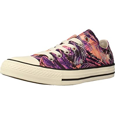 Womens Chuck Taylor All Star OX Hyper Royal Pale Coral Textile Trainers 40 EU Converse 1GAE4WI