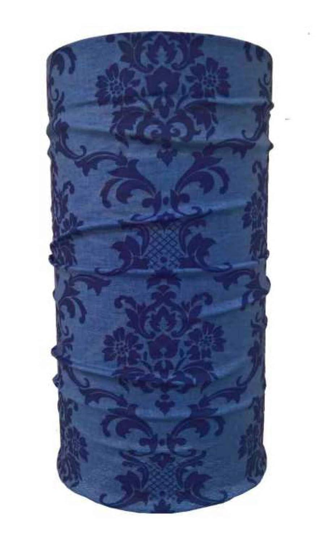 Viktorianisches Muster Blau Multifunktions Bandana Tuch