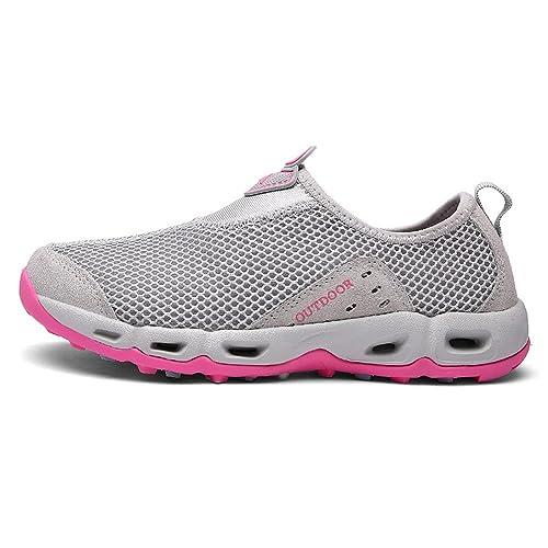 04798981be829 Arcweg Chaussures de Randonnée Marche Trekking Escalade Sneakers Homme  Femme Antidérapant Respirant Chaussures Aquatiques Chaussons de