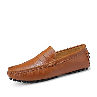 d827364025087 Size 49 Men Casual Shoes Fashion Men Shoes Genuine Leather Men Loafers  Moccasins Slip On Men's