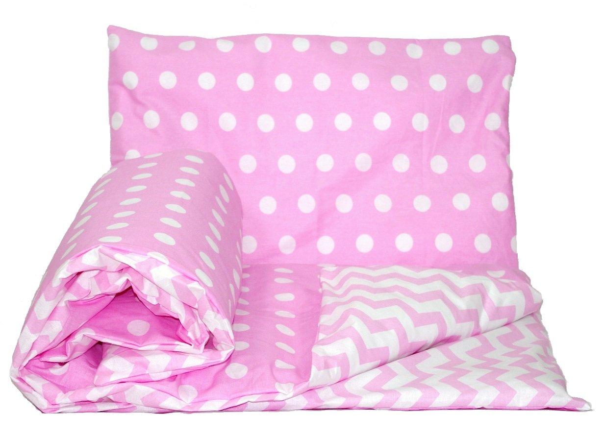 1 - Pink spots / pink chevron