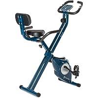 Klar FIT Klarfit Azura [CF/Pro] X-Bike - Bicicleta Fija, Bicicleta estática, medidor de Pulso, Peso a rotar de 3 kg…