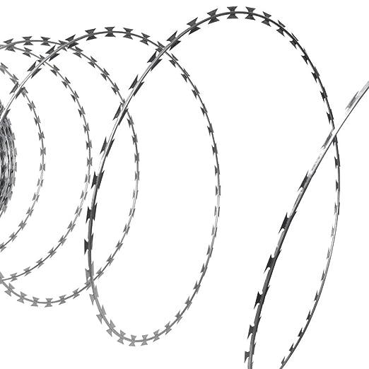 2 opinioni per vidaXL Filo spinato NATO Concertina elicoidale in acciaio zincato 60 m