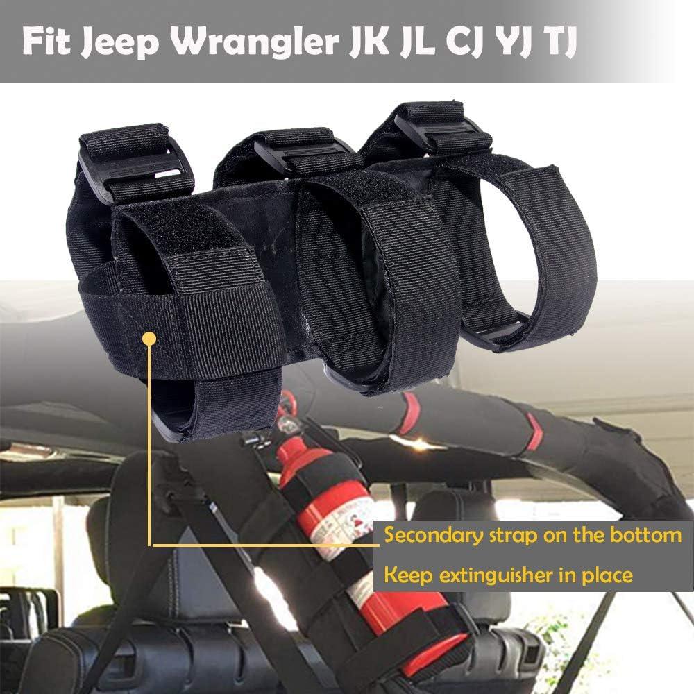 Fire Extinguisher Holder Fire Extinguisher Mount Fire Extinguisher Mounting Bracket Roll Cage Fire Extinguisher Mount Fire Extinguisher Kit for Jeep Wrangler Unlimited CJ YJ LJ TJ JK JKU JL