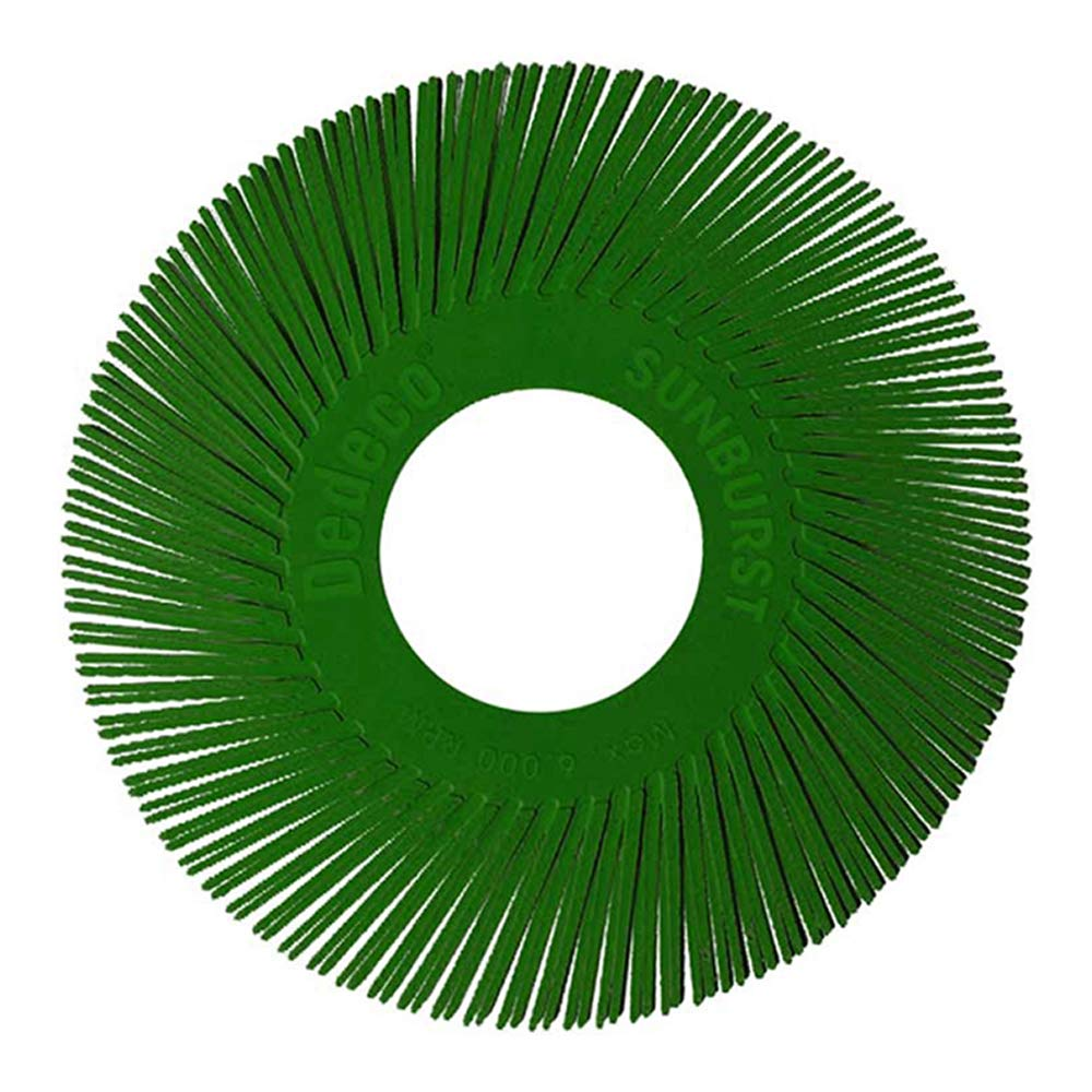 Dedeco Sunburst - 6 Inch TA Radial Bristle Discs - 1 Inch Arbor - Industrial Thermoplastic Rotary Cleaning and Polishing Tool, Extra-Coarse 50 Grit (40 Pack)