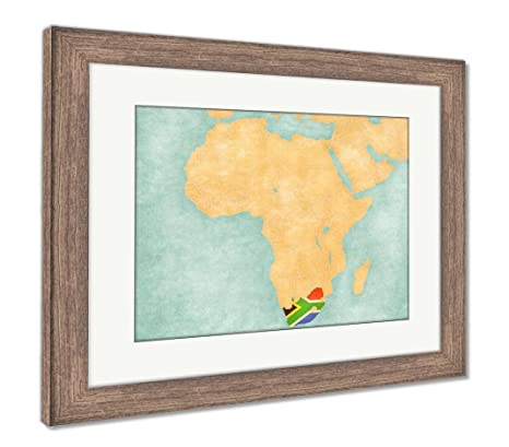 Amazon Com Ashley Framed Prints Map Of Africa South Africa Wall