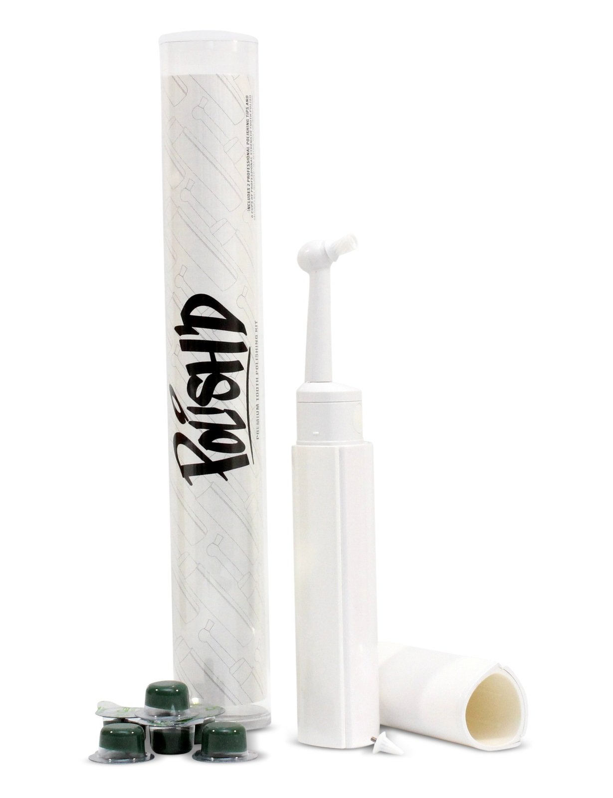 POLISH'D Premium Tooth Polishing Kit w/Professional Strength Polish - MINT (Coarse Grit)