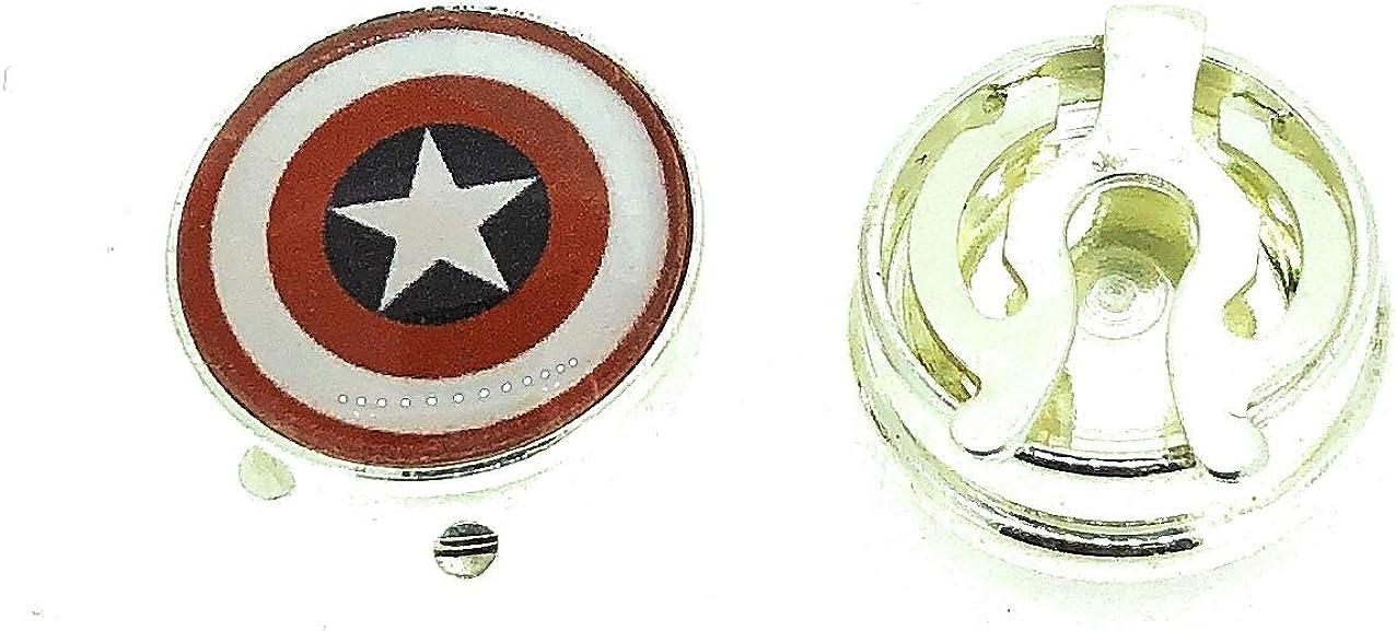 Gemelolandia Cubrebotones Capitán América: Amazon.es ...