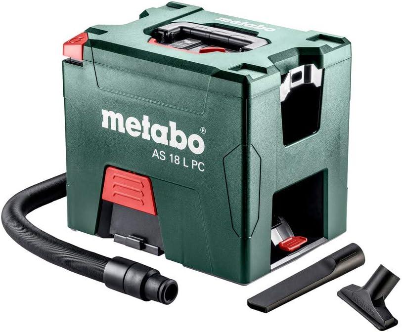 Metabo Aspiradora AS 18 L PC 602021000 Limpieza del filtro con manual 2 x 5,2 Ah ASC 30 – 36 V: Amazon.es: Bricolaje y herramientas